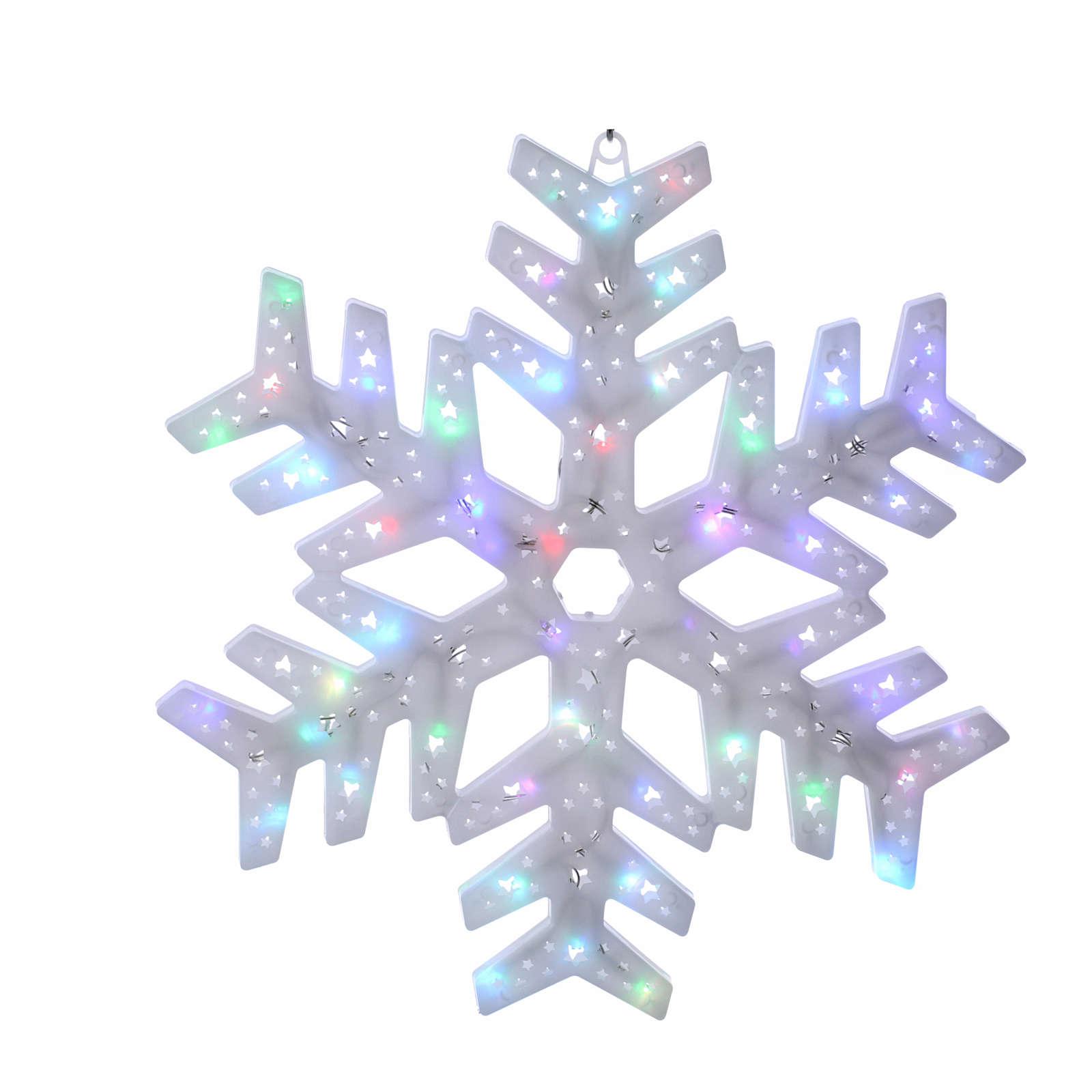 Éclairage flocon neige 50 led colorés intérieur extérieur 3