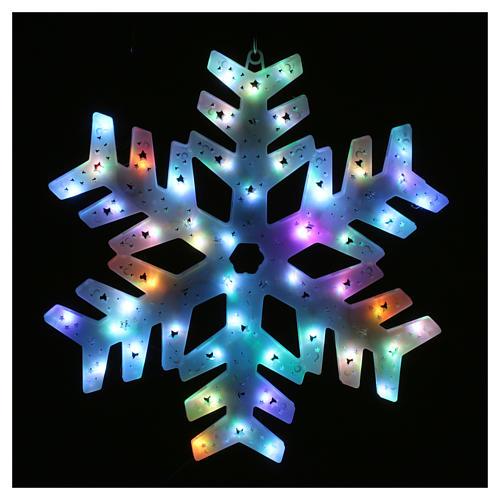 Éclairage flocon neige 50 led colorés intérieur extérieur 2