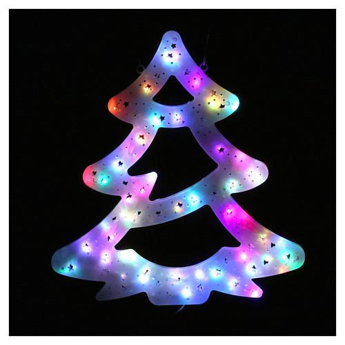 Luz Árbol Navidad 50 led coloreados interior exterior 2