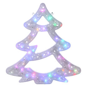 Luce Albero Natale 50 led colorati interno esterno s1