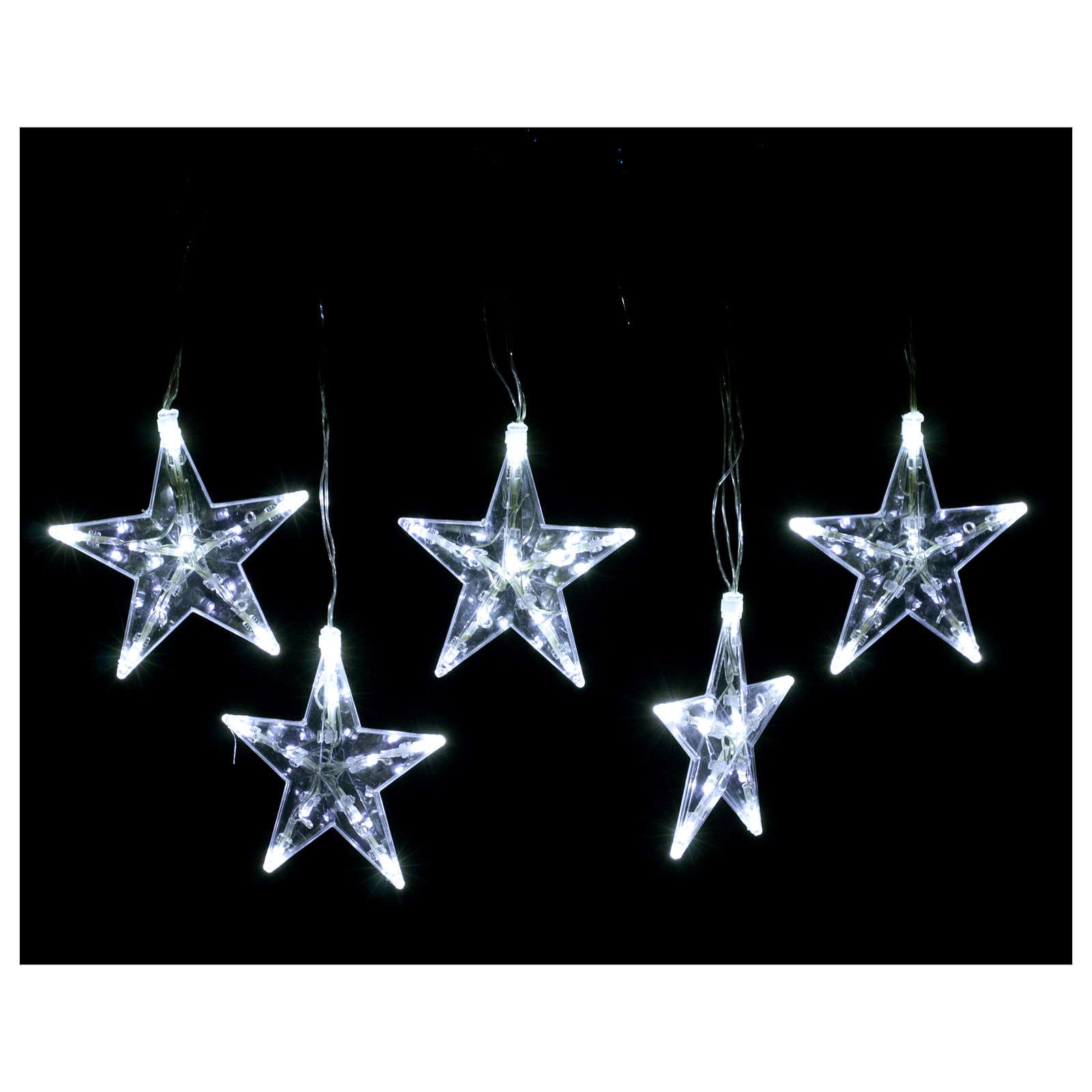 Luz navideña Estrellas 50 led blanco Hielo interior exterior 3