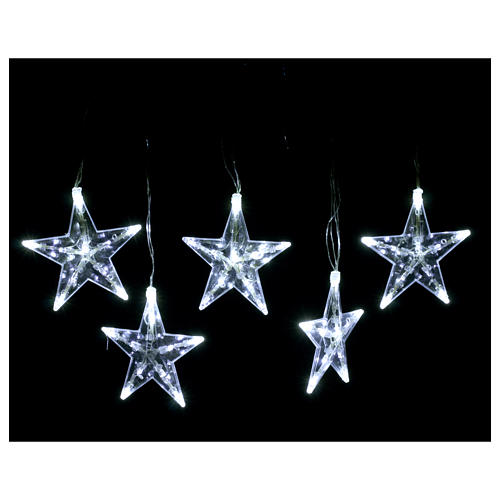 Star Christmas lights 50 leds ice white internal and external use 2