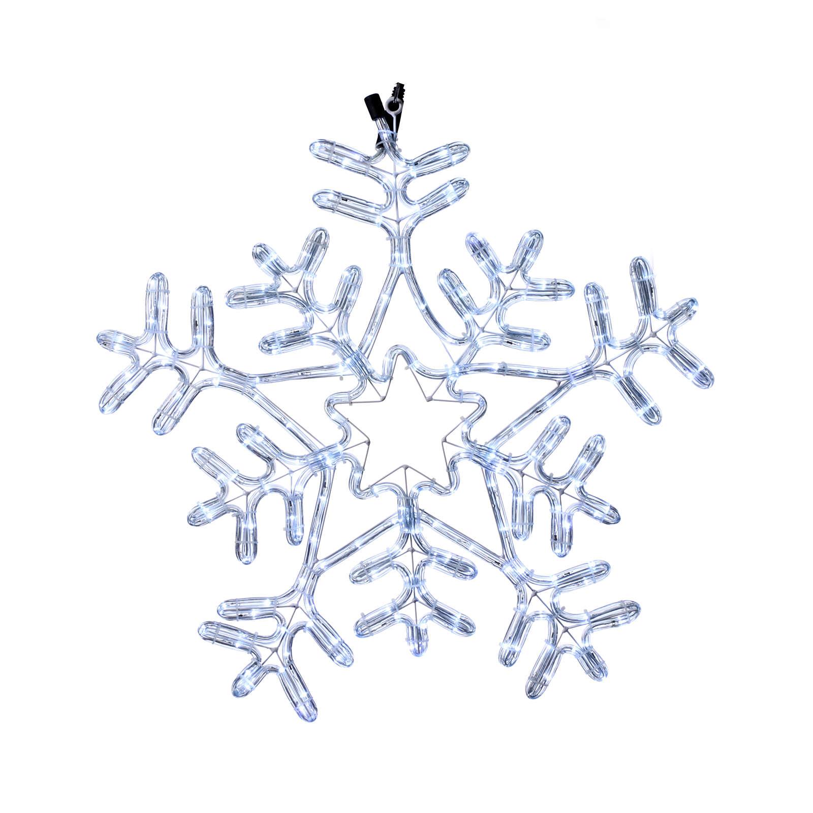 Luce Fiocco di neve 216 led interno esterno Bianco Ghiaccio 3