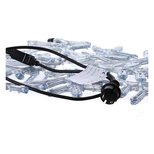 Luce Fiocco di neve 216 led interno esterno Bianco Ghiaccio 4