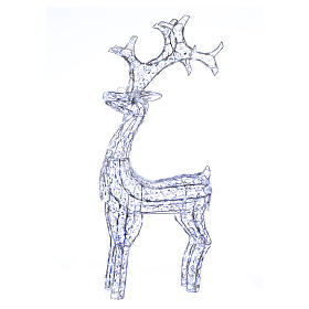 Christmas lights: Diamond reindeer 200 leds ice white for external use