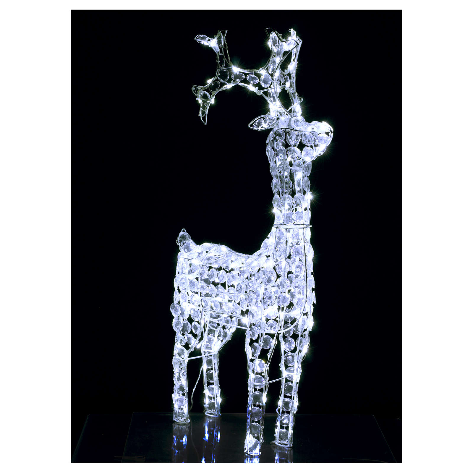 Diamond reindeer 150 leds cold white for external and internal use 3
