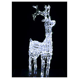 Diamond reindeer 150 leds cold white for external and internal use s3