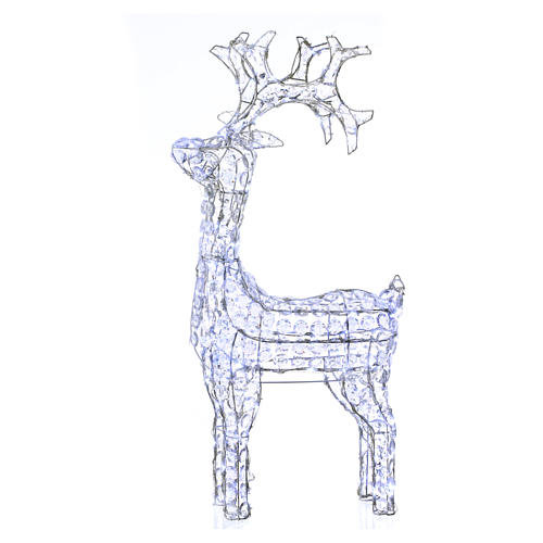 Diamond reindeer 150 leds cold white for external and internal use 1