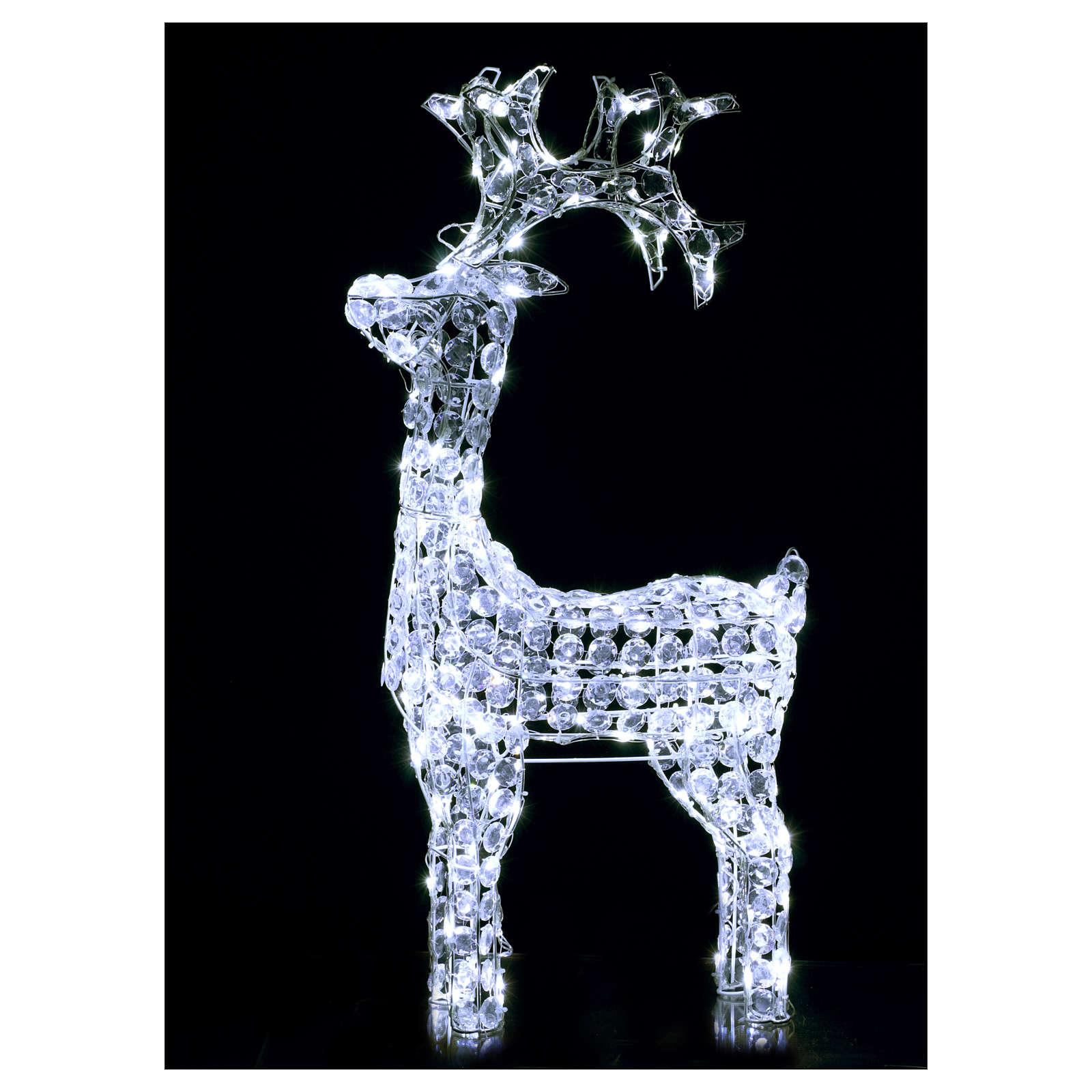 Renna diamanti 150 led bianco freddo interno esterno 3