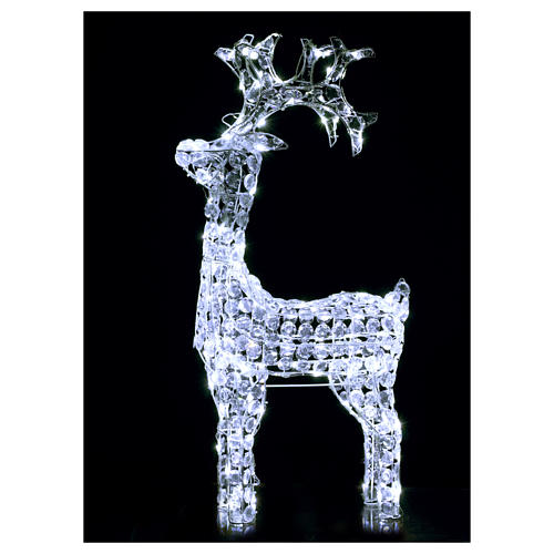 Renna diamanti 150 led bianco freddo interno esterno 2