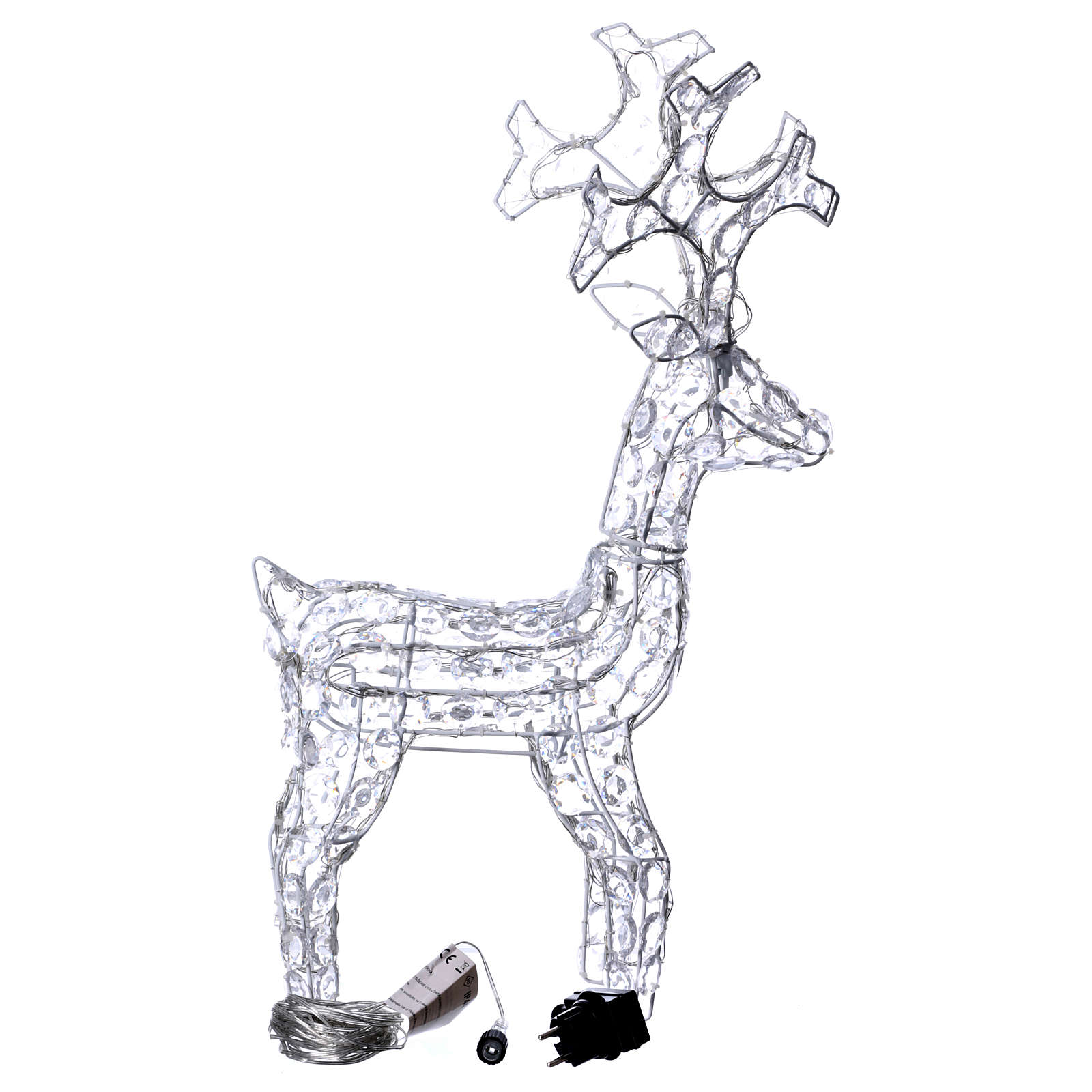Diamond reindeer 80 leds ice white for external and internal use 3