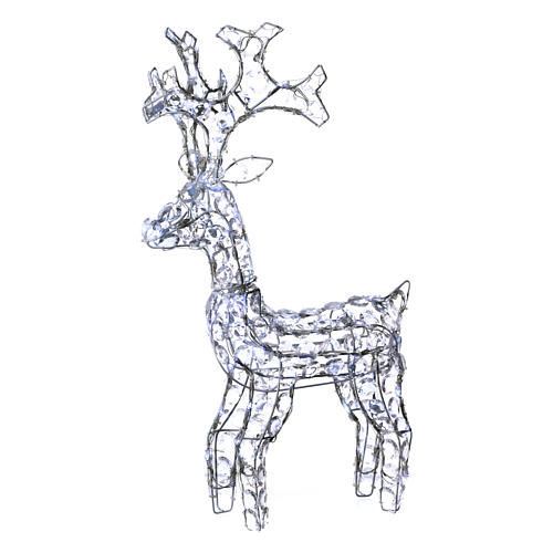 Diamond reindeer 80 leds ice white for external and internal use 1