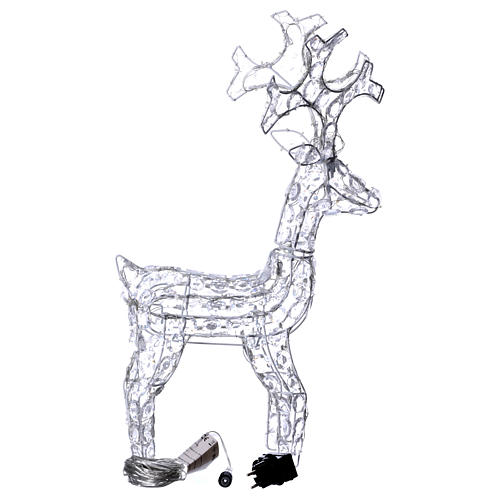 Diamond reindeer 80 leds ice white for external and internal use 4