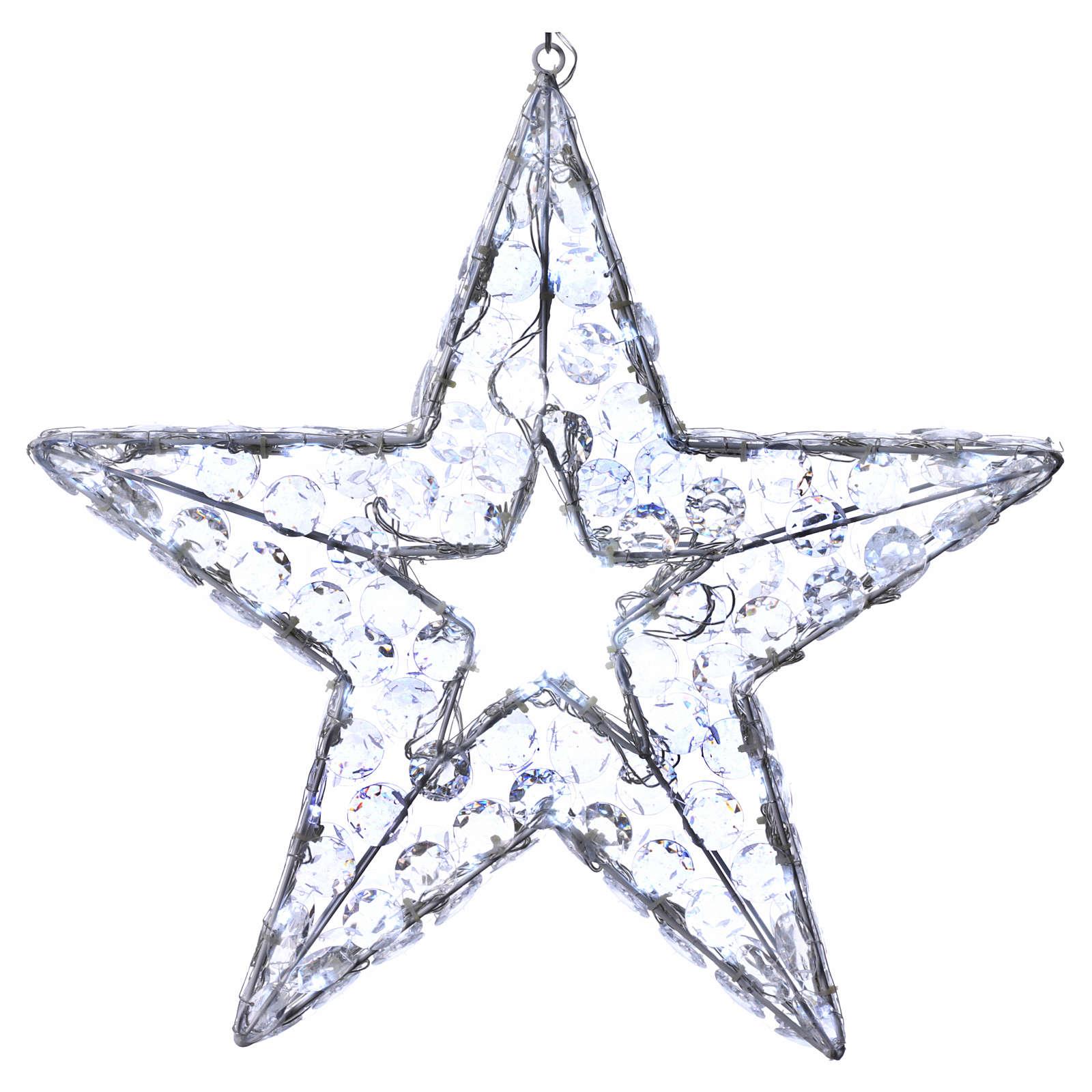 Luz Navideña Estrella LED blanco hielo interior exterior 3