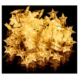 Catena stelline 100 led bianco caldo interno esterno s2