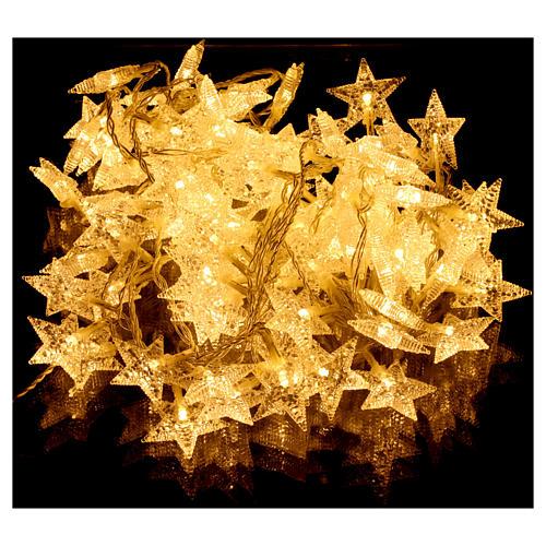Catena stelline 100 led bianco caldo interno esterno 2