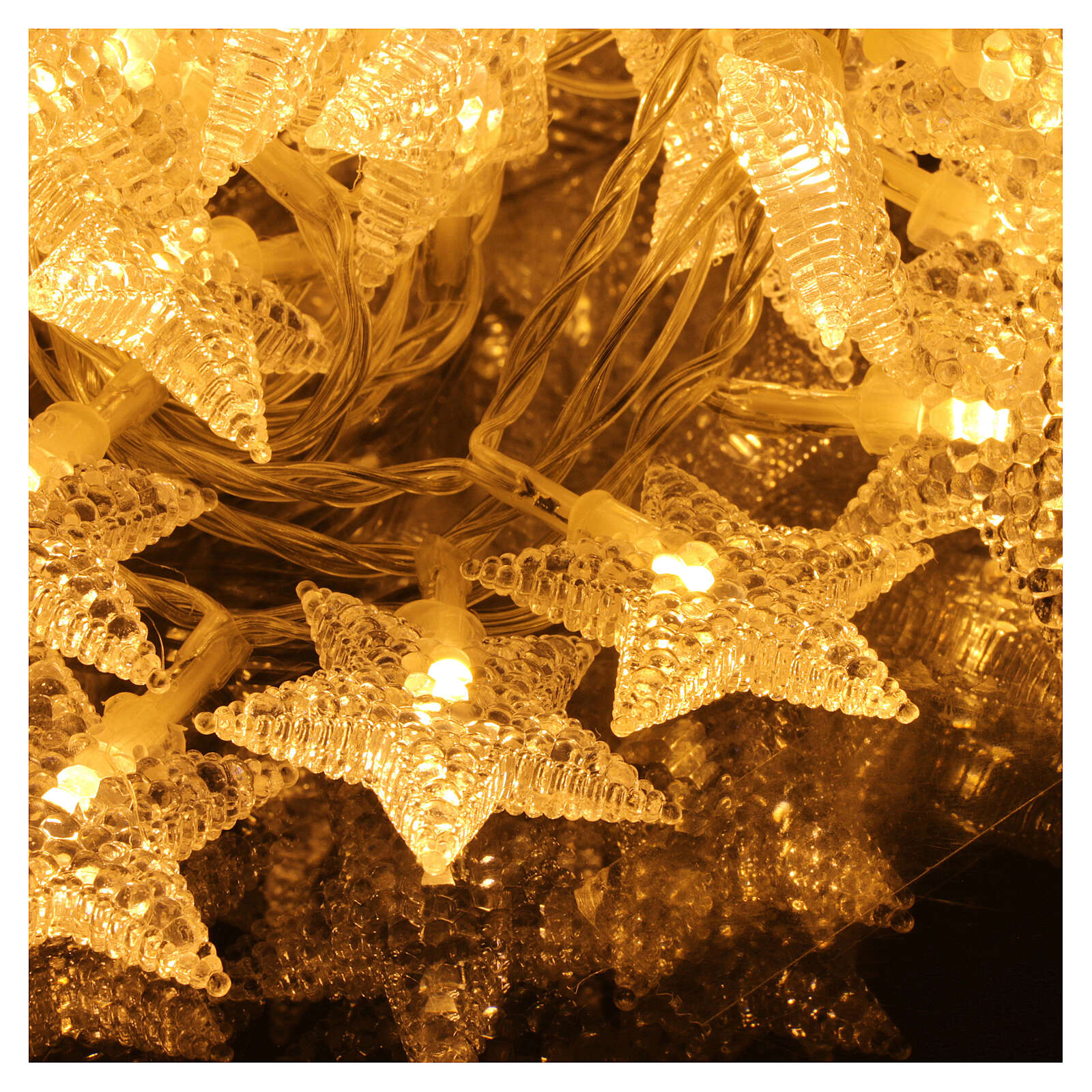 Star lights cable 100 leds warm white internal and external use 3
