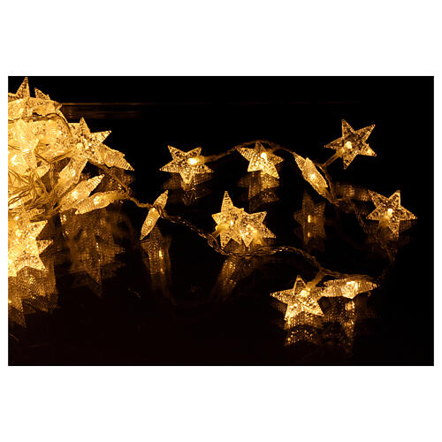 Star lights cable 100 leds warm white internal and external use 4