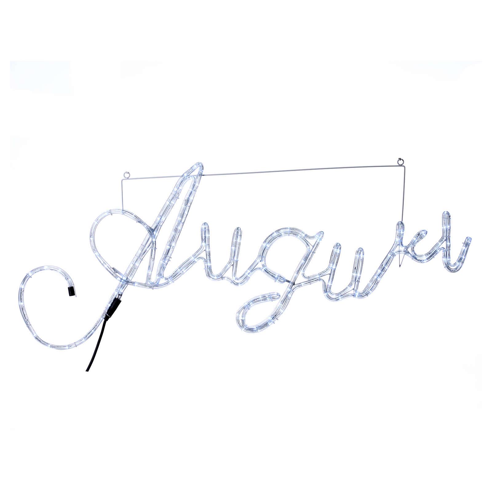 Scritta Luminosa Auguri 168 led bianco freddo interno esterno 3