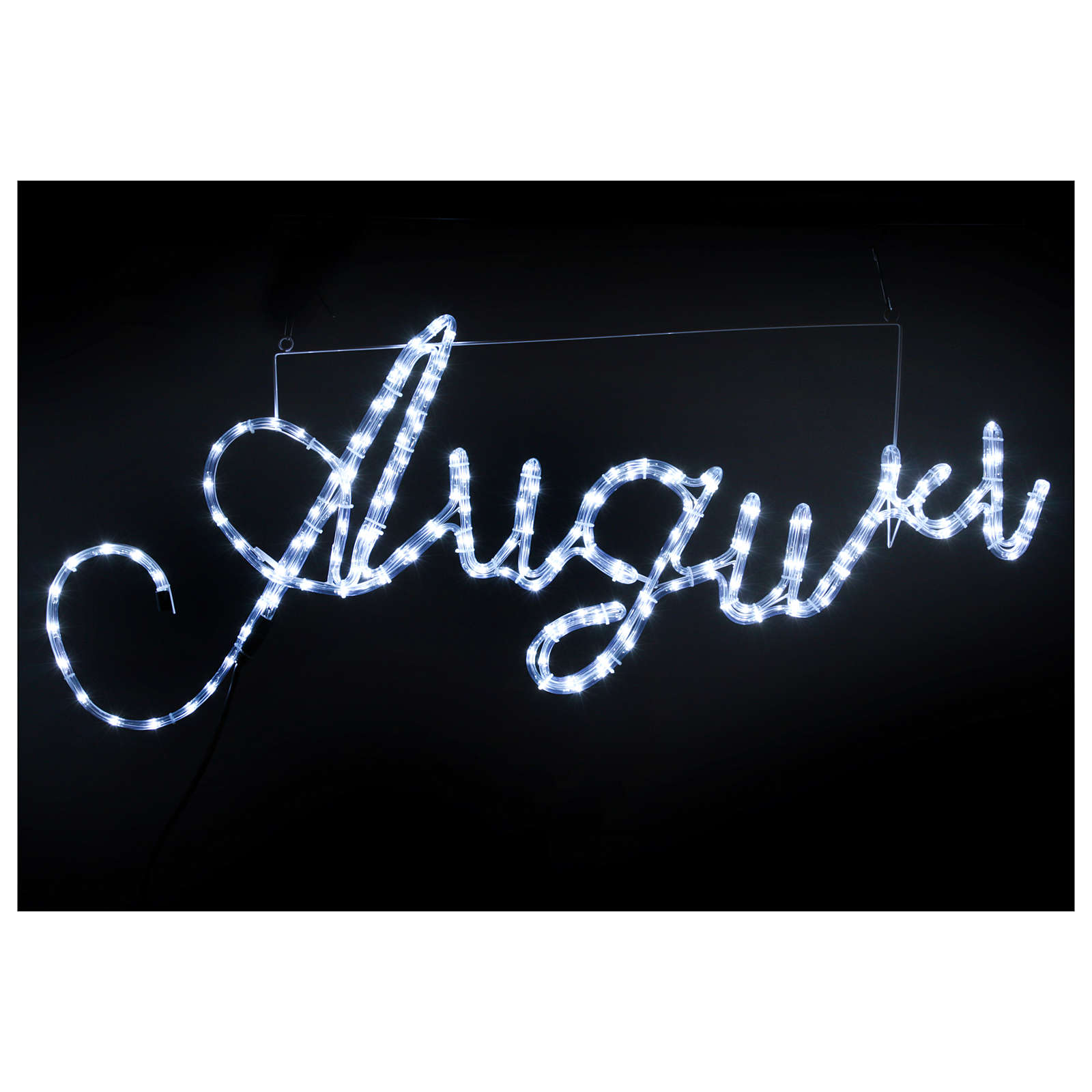 Illuminated writing Good Wishes 168 led lights cold white for internal and external use 3