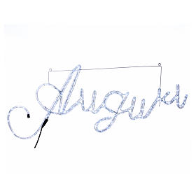 Illuminated writing Good Wishes 168 led lights cold white for internal and external use s1