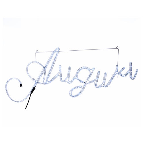 Illuminated writing Good Wishes 168 led lights cold white for internal and external use 1