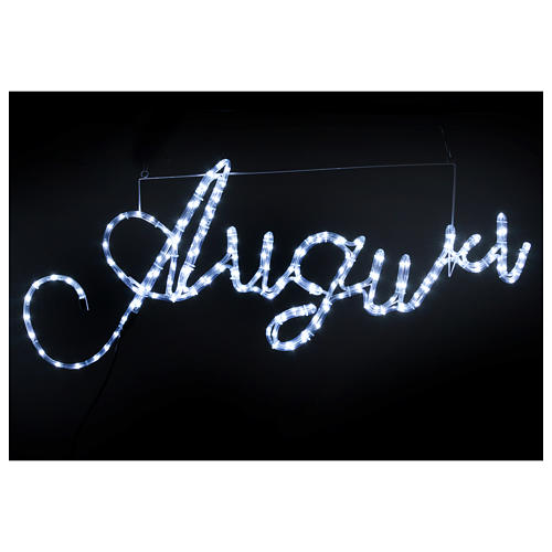 Illuminated writing Good Wishes 168 led lights cold white for internal and external use 2