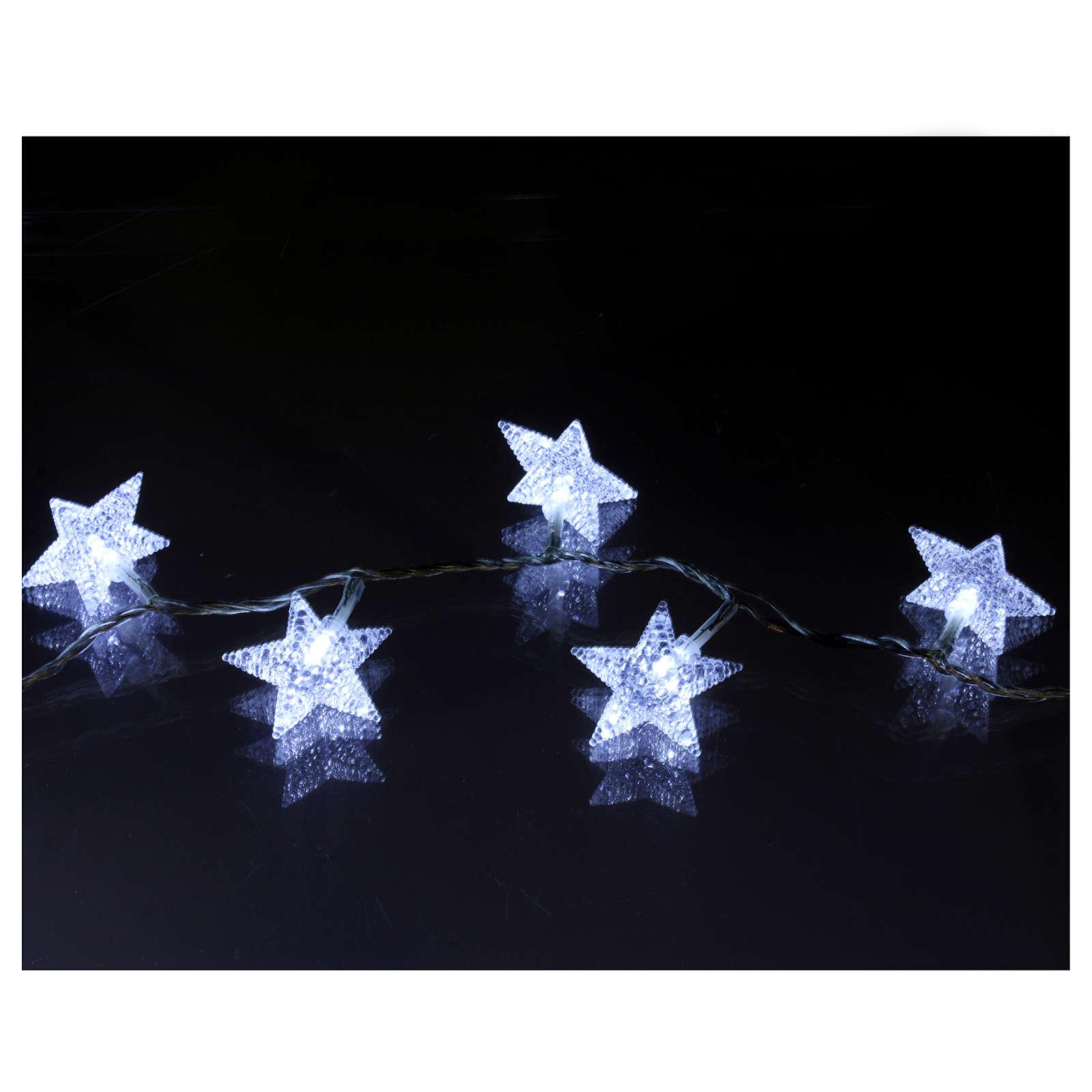 Cadena estrellas 100 led blanco hielo interior exterior 3