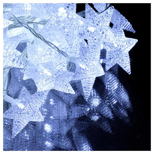 Chaîne étoiles 100 led blanc froid intérieur extérieur 3