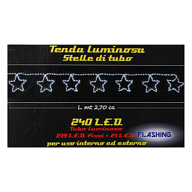 Tenda luminosa 240 led interno esterno bianco freddo s5