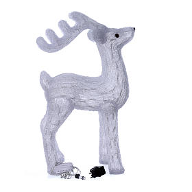 Christmas reindeer decoration 200 leds ice white for internal and external use s4