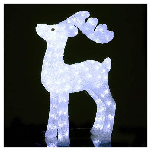 Christmas reindeer decoration 200 leds ice white for internal and external use 2