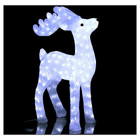 Christmas reindeer decoration 200 leds ice white for internal and external use s3