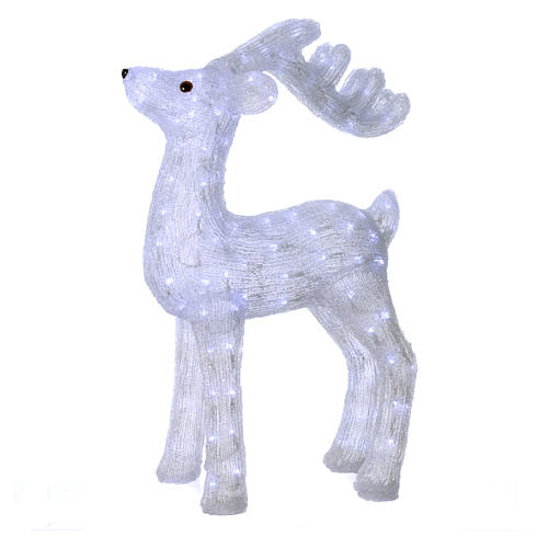 Christmas reindeer decoration 200 leds ice white for internal and external use 1