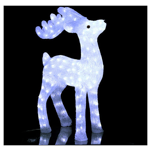 Christmas reindeer decoration 200 leds ice white for internal and external use 3