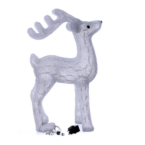 Christmas reindeer decoration 200 leds ice white for internal and external use 4