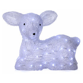 Christmas fawn decoration 60 leds ice white for internal and external use s1