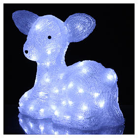 Christmas fawn decoration 60 leds ice white for internal and external use s3