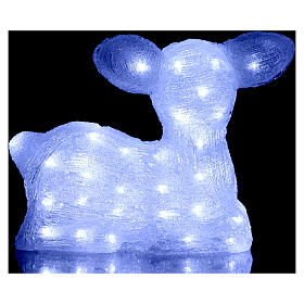 Christmas fawn decoration 60 leds ice white for internal and external use s4