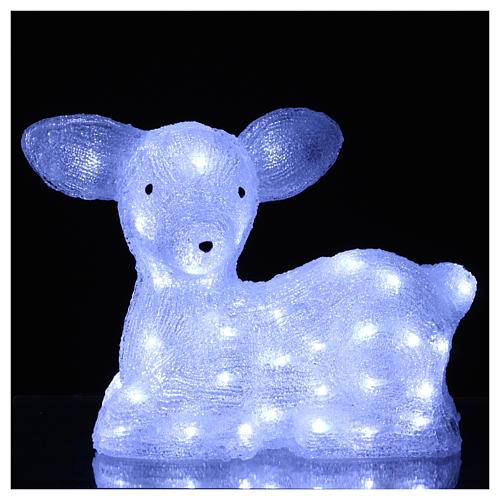 Christmas fawn decoration 60 leds ice white for internal and external use 2