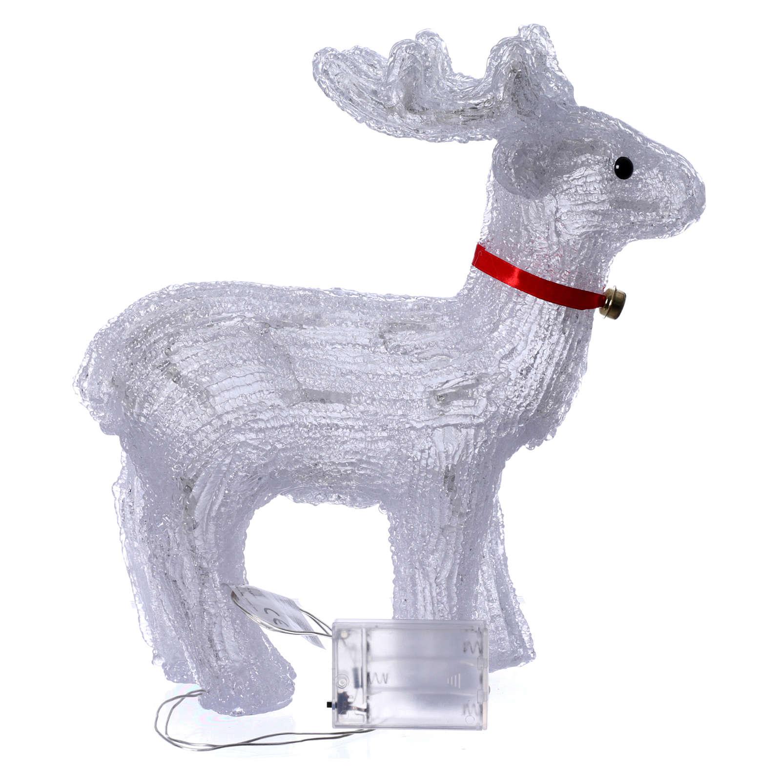 Renna luminosa 40 led bianco freddo uso interno 3