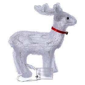 Renna luminosa 40 led bianco freddo uso interno s4