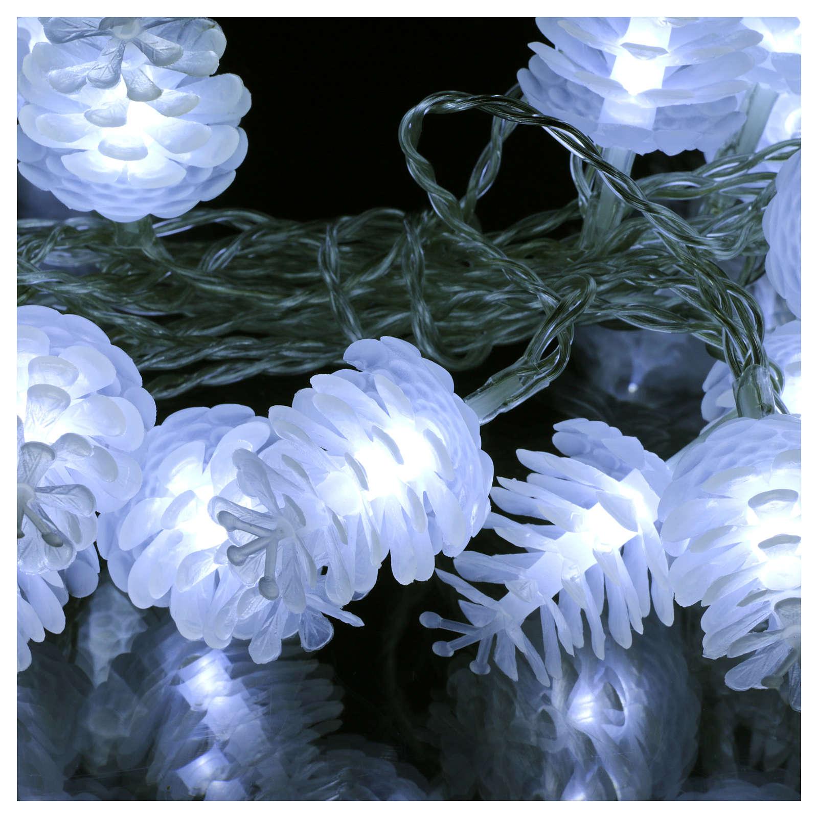 Christmas lights pine shape 20 white leds 3