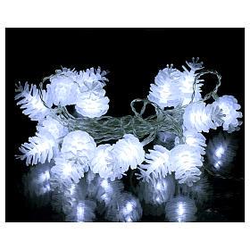 Christmas lights pine shape 20 white leds s2