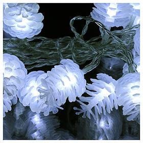 Christmas lights pine shape 20 white leds s3