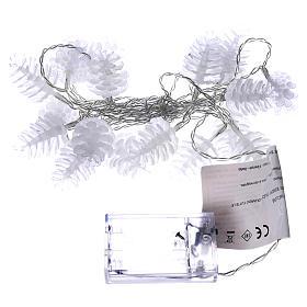 Christmas lights pine shape 20 white leds s4