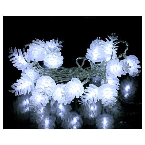 Christmas lights pine shape 20 white leds 2