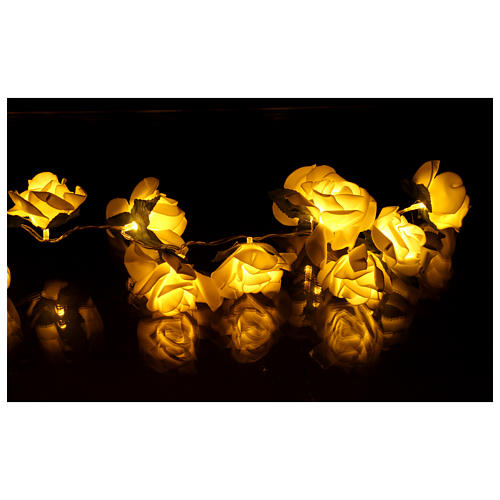 Chaîne 20 led roses blanches 5