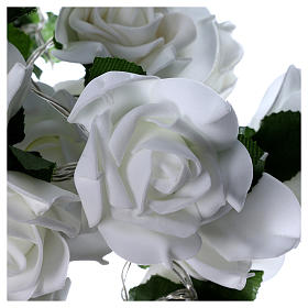 Light cable 20 leds white roses s3