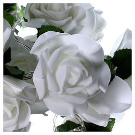 Light cable 20 leds white roses s5